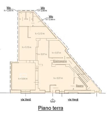 03- pianta - NEGOZIO LUINO (VA) CENTRO