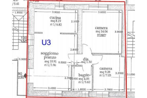 planimetria u3_13 - APPARTAMENTO CUVIO (VA) CENTRO