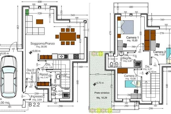 07-9 pianta cod. 5031 - villa  - COMPLESSO IMMOBILIARE GERMIGNAGA (VA) SEMICENTRO