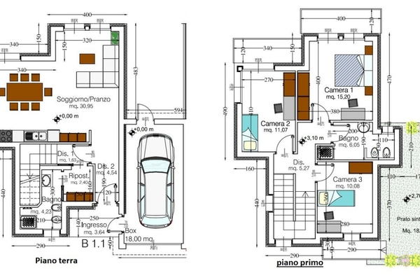 07-3 pianta cod. 5025 villa ge - COMPLESSO IMMOBILIARE GERMIGNAGA (VA) SEMICENTRO