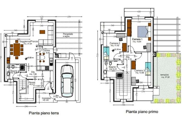07-5 pianta cod. 5027 villa si - COMPLESSO IMMOBILIARE GERMIGNAGA (VA) SEMICENTRO