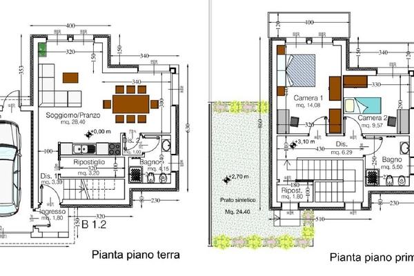 07-4 pianta cod. 5026 villa ge - COMPLESSO IMMOBILIARE GERMIGNAGA (VA) SEMICENTRO