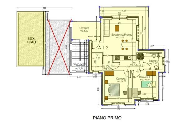 07-2 pianta cod. 5024 - app. i - COMPLESSO IMMOBILIARE GERMIGNAGA (VA) SEMICENTRO